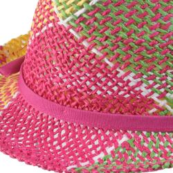 Journee Collection Women's Multi-color Straw Fedora Hat