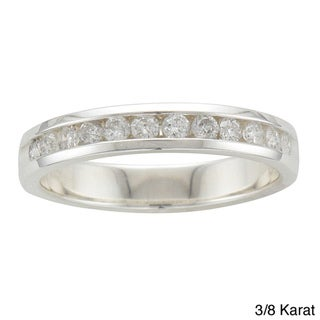 Sterling Silver 1/5 to 3/8ct TDW Diamond Wedding Band (H-I, I2)