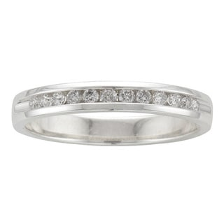 Sterling Silver 1/5ct TDW Diamond Wedding Band (H-I, I2)