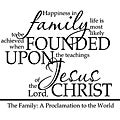 A Family Proclamation Religious Vinyl Wall Art Quote