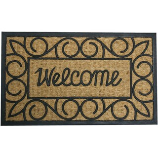 "Rubber-Cal 'Welcome Home Again' Entrance Mat (18"" x 32"")"