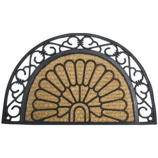 """Rubber-Cal 'Tivoli Garden' Rubber Door Mat (18"""" x 30"""")"""