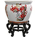 Porcelain 20-inch Cherry Blossom Fishbowl (China)
