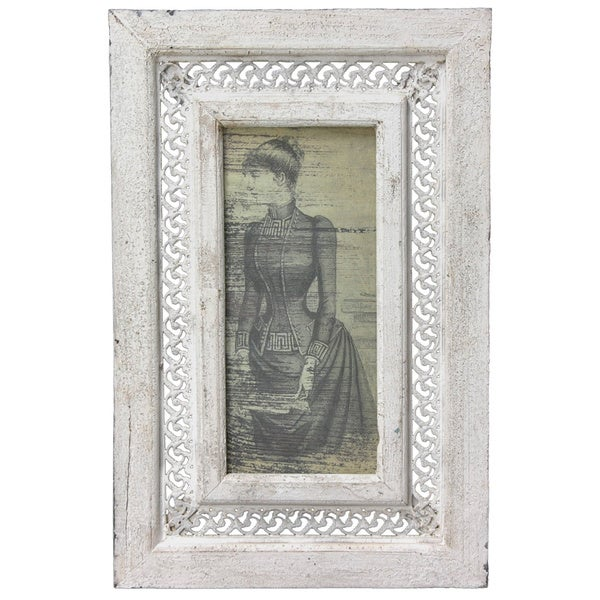 Rustic Victorian Lady Framed Picture (China)