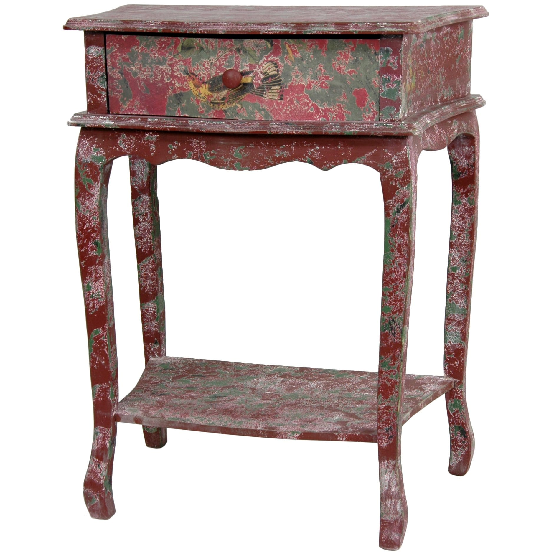 Rustic Red End Table (China)
