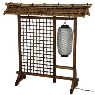 Bamboo Lantern 4-foot Room Divider (China)