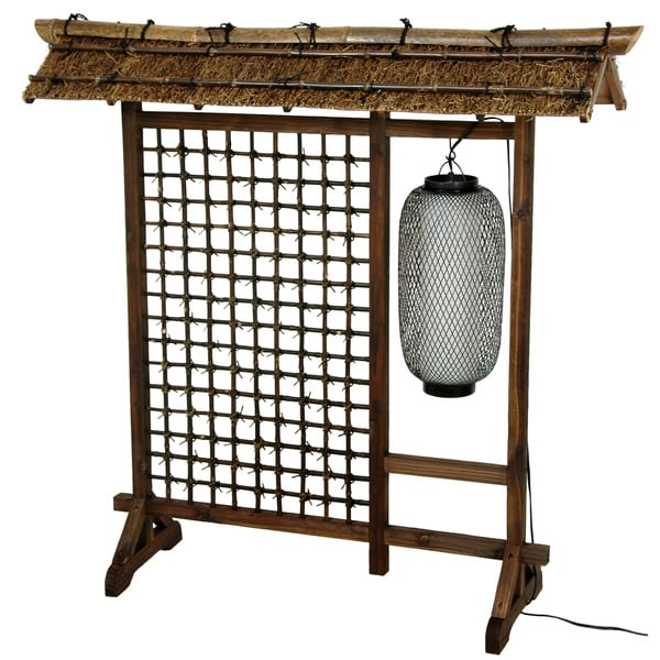 Bamboo Lantern 4-foot Room Divider (China)