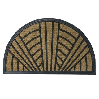 """Rubber-Cal 'It's Good to Be Home' Rubber Doormat (18"""" x 30"""")"""