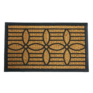 "Rubber-Cal 'Cordoba' Outdoor Coconut Rubber Mat (18"" x 30"")"