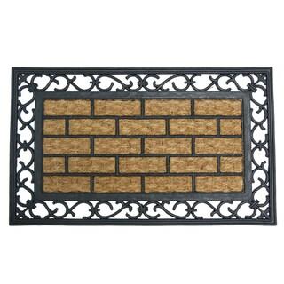 "Rubber-Cal 'Gibraltar' Rubber Coir Fiber Doormat (18"" x 30"")"