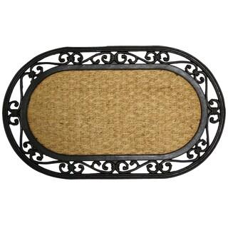 """Rubber-Cal 'Alexandria' Rubber Coco Fiber Doormat (18"""" x 30"""")"""