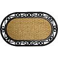 Rubber-Cal 'Alexandria' Rubber Coco Fiber Doormat (18