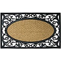 "Rubber-Cal 'Celtic Sea' Coco Rubber Outdoor Mat (18"" x 30"")"