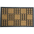 Rubber-Cal 'Summer in Cardiff' Outdoor Coir Rubber Mat