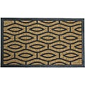 "Rubber-Cal 'Green Terrace' Rubber Coir Door Mat (18"" x 30"")"