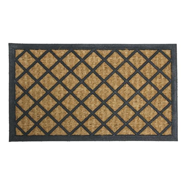 Rubber-Cal 'My English Garden' Rubber Coir Decorative Mat