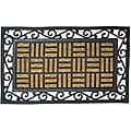 Rubber-Cal 'Live in Harmony' Outdoor Rubber Coir Fiber Doormat