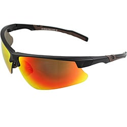 Men's 4921RV-BKR Brown/ Black Wrap Sunglasses