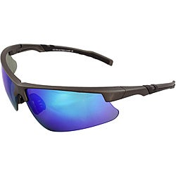 Men's 4921RV-DKGYBU Grey/ Black Wrap Sunglasses
