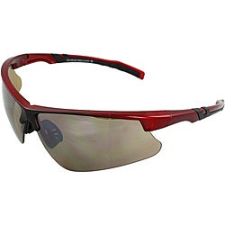 Men's 4921RV-RDBN Red/ Black Wrap Sunglasses