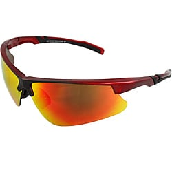 Men's 4921RV-RDR Red/ Black Wrap Sunglasses