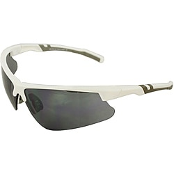 Men's 4921RV-WHTSM White/ Grey Wrap Sunglasses