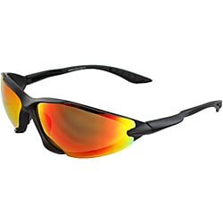 Men's 6545RV-BKR Black/ Rainbow Wrap Sunglasses