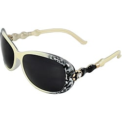 Women's Ivory Oval Sunglasses