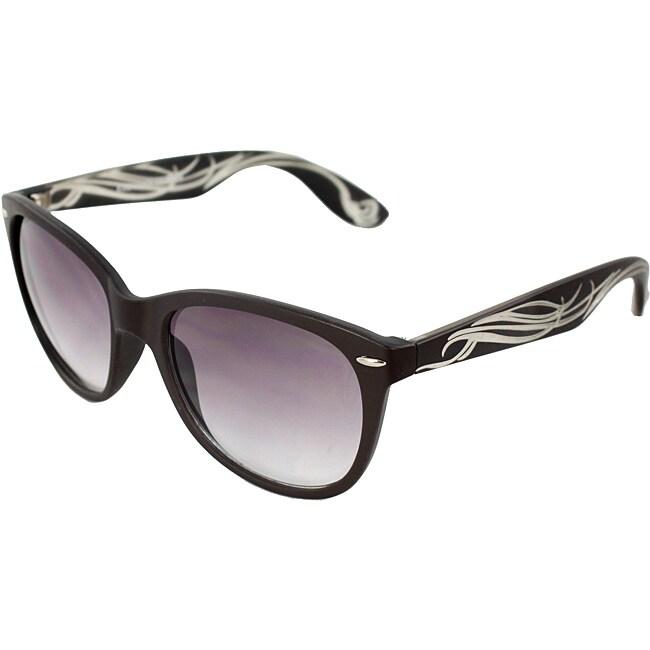Unisex Brown/ Ivory Fashion Sunglasses