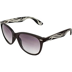 Unisex Brown/ Ivory Fashion Sunglasses