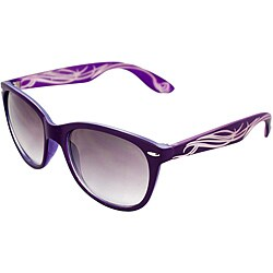 Unisex Purple/ Ivory Fashion Sunglasses