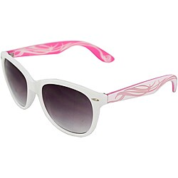 Unisex White/ Pink Fashion Sunglasses