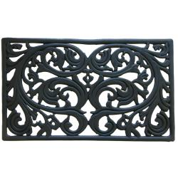 Rubber-Cal 'Genoa' Decorative Cast Iron Rubber Doormat