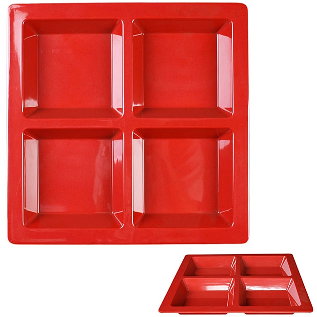 Royal Red Collection 4-section Compartment Tray