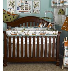 Cotton Tale Aye Matie Crib Rail Cover
