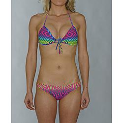 Island World Juniors Bright Tribal Halter/ Hipster Bikini