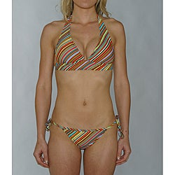 Island World Junior's Euro Stripe Two-Piece Bikini