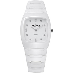 Skagen Women's White Ceramic Watch