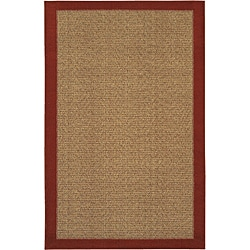 Reed Crimson Red/ Tan Rug (1'8 x 2'6)