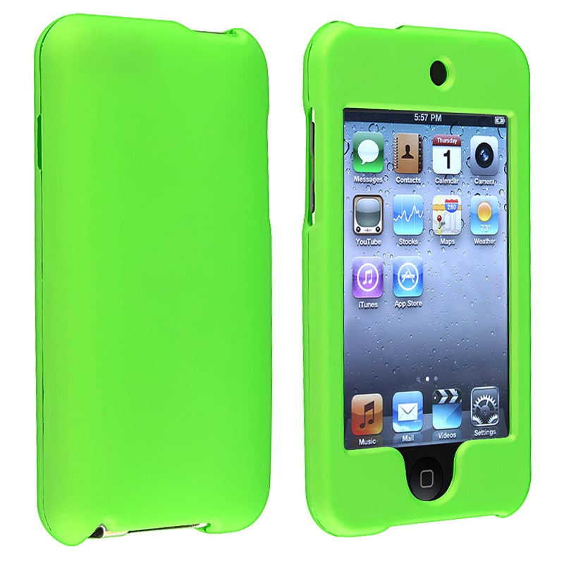 INSTEN Green Rubber Coated iPod Case Cover for Apple iPod Touch 2nd/ 3rd Generation