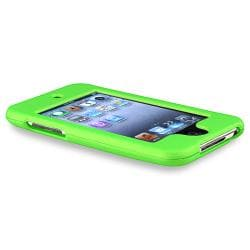 Green Rubber Coated Case for Apple iPod Touch 2nd/ 3rd Generation