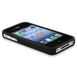 BasAcc Black Silicone Skin Case for Apple iPhone 4/ 4S