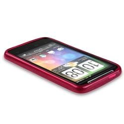 BasAcc Clear Frost Wine Red Circle TPU Case for HTC Desire HD