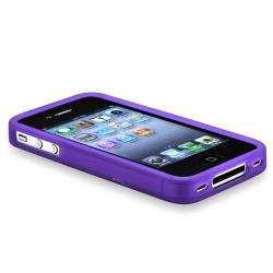 BasAcc Purple Bumper TPU Rubber Skin Case for Apple iPhone 4/ 4S