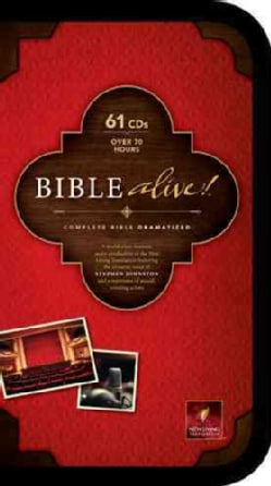 Bible Alive!: New Living Translation, Black Zipper Case (CD-Audio)