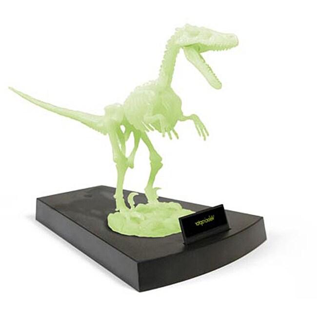 Jurassic Night Glow-in-the-dark Velociraptor Skeleton