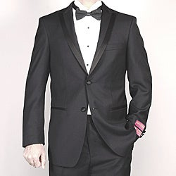Mantoni Men's Black Wool Tuxedo