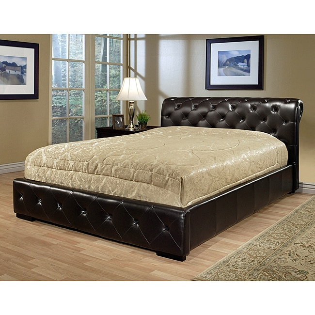 ABBYSON LIVING Delano Dark Brown Bi-cast Leather King-size Bed