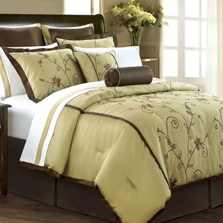 Angelica Gold Queen-size 12-piece Room in a Bag with Sheet Set