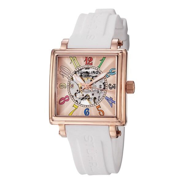 Stuhrling Original Women's 'Lady Ozzie' Skeleton Automatic Watch
